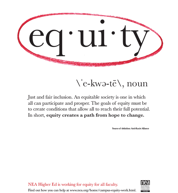 NEA Campus Equity Flyer (In the NEA Tool Kit)