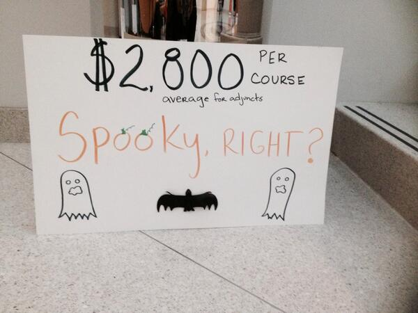 Adjunct pay: Very spooky indeed!