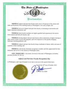WA proclamation