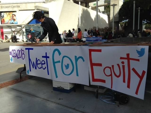 Information table for Campus Equity Week